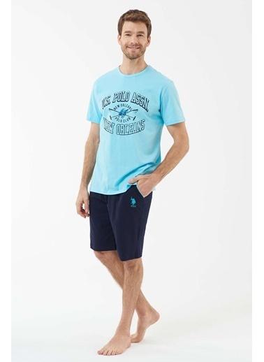U.S. Polo Assn. Erkek T-Shirt Şort Takım Turkuaz